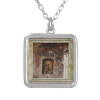Madonna In A Grotto Silver Plated Necklace