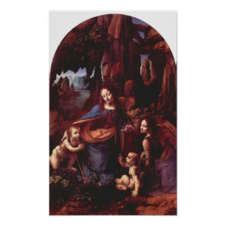 Madonna in the rock cave by Leonardo da Vinci Poster