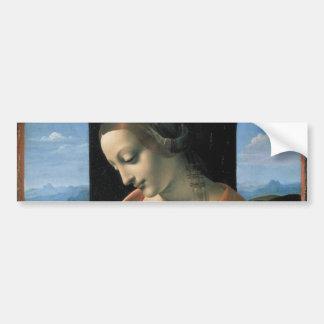 Madonna Litta by Leonardo da Vinci Bumper Stickers