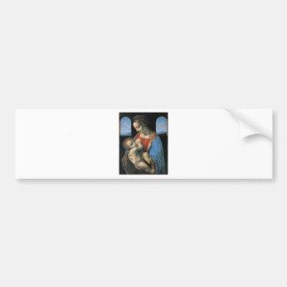 Madonna Litta by Leonardo Da Vinci c. 1490-1491 Bumper Stickers