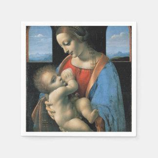 Madonna Litta by Leonardo da Vinci Paper Napkins