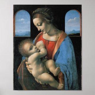 Madonna Litta, Leonardo da Vinci Fine Art Poster