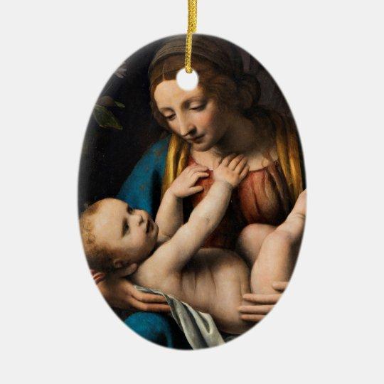 Madonna med Kristusbarnet Ceramic Ornament