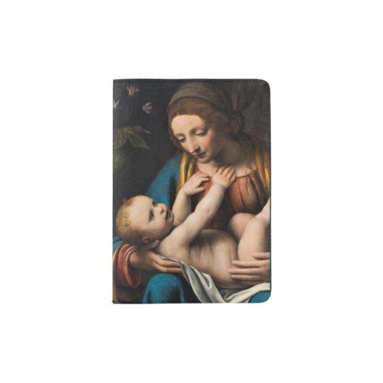 Madonna med Kristusbarnet.pg Passport Holder