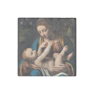 Madonna med  Kristusbarnet Stone Magnet