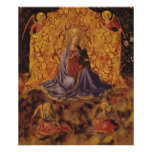 Madonna of Humility with Christ Child and Angels Poster