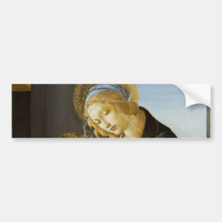 Madonna of the Book by Botticelli Bumper Sticker