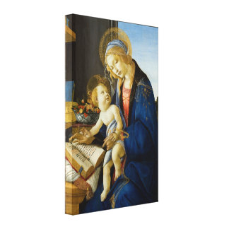 Madonna of the Book by Botticelli Canvas Print
