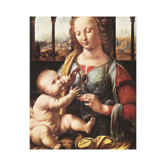 'Madonna of the Carnation' Canvas Print