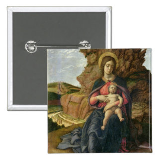 Madonna of the Cave, 1488-90 (tempera on panel) 15 Cm Square Badge