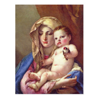 Madonna of the Goldfinch Postcard
