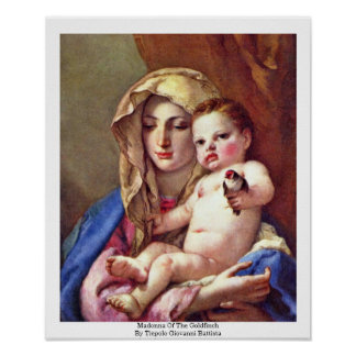 Madonna Of The Goldfinch Poster