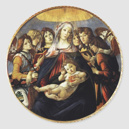 Madonna of the Pomegranate Sticker