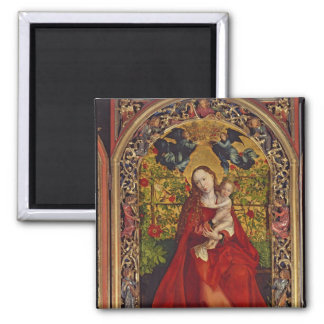 Madonna of the Rose Bower, 1473 Square Magnet