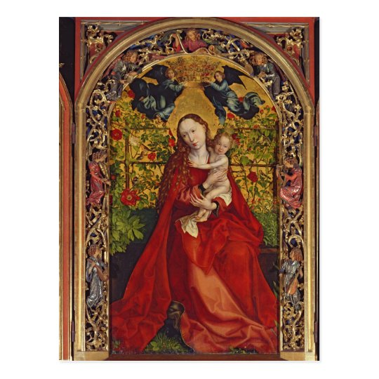 Madonna of the Rose Bower, 1473 Postcard