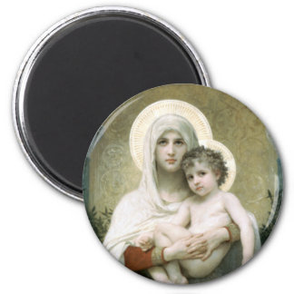 Madonna of the Roses 6 Cm Round Magnet