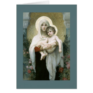 Madonna of the Roses Card
