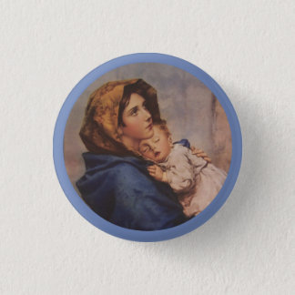 Madonna of the Street with Baby Jesus 3 Cm Round Badge