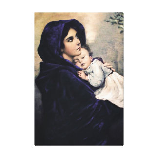 Madonna of the streets canvas print