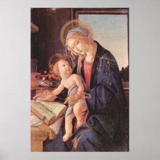 Madonna teaches the child Jesus Poster