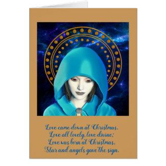 madonna traditional Christmas card