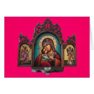Madonna Tryptich Card