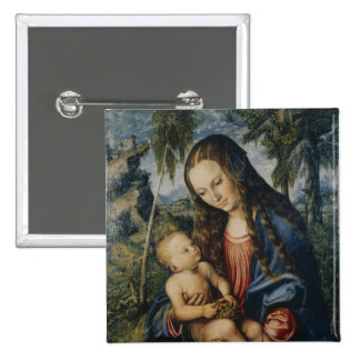 Madonna under the fir tree, c.1510 15 cm square badge