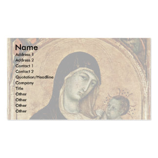 Madonna With Angels By Duccio Di Buoninsegna Business Card Template