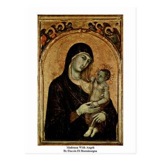 Madonna With Angels By Duccio Di Buoninsegna Postcard