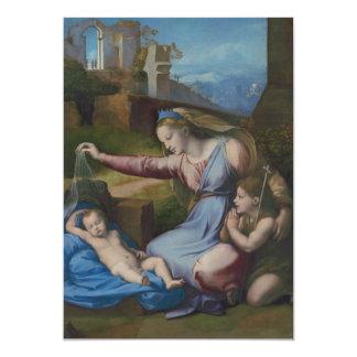 Madonna with Blue Diadem Raphael Sanzio 13 Cm X 18 Cm Invitation Card
