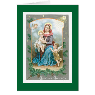 Madonna with Christ Child and Angels Card