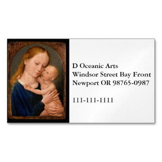 Madonna with Christ Child Magnetic Business Cards