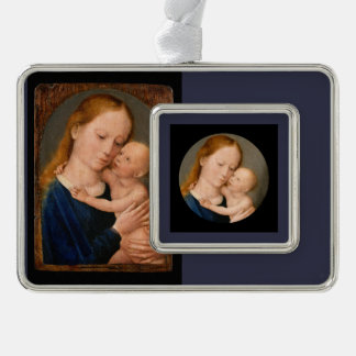 Madonna with Christ Child Silver Plated Framed Ornament