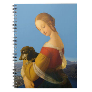 """""""Madonna with Dachshund"""" Artistic Notebook"""