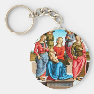 Madonna with Saints and Angels Keychain