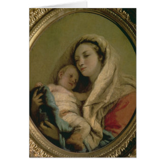 Madonna with Sleeping Child, 1780s Card