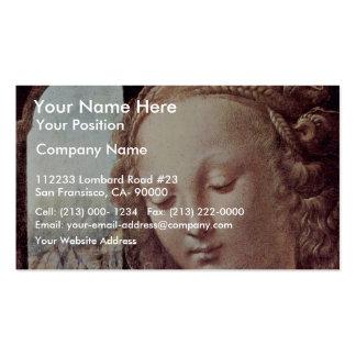 Madonna With The Carnation  By Leonardo Da Vinci Business Cards