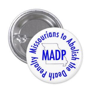 MADP button, white 3 Cm Round Badge