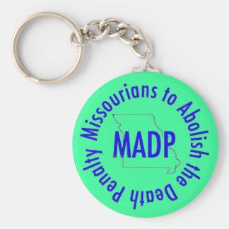 MADP keychain, green Basic Round Button Key Ring