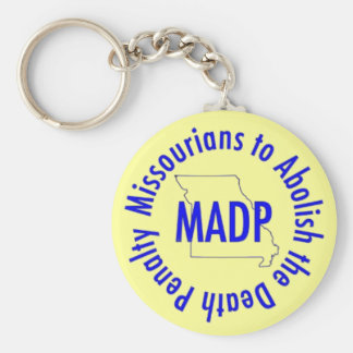 MADP keychain, yellow Basic Round Button Key Ring
