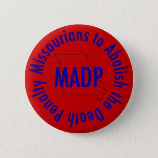 madp logo button, red 6 cm round badge
