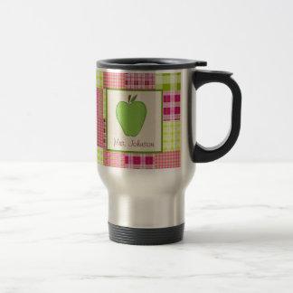Madras Inspired Plaid Green Apple Teacher Mug