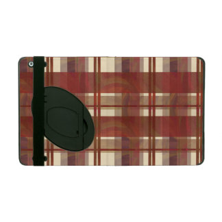 Madras Plaid Fall Red iPad Covers