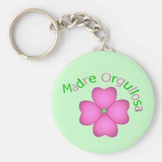Madre Orgullosa Basic Round Button Key Ring