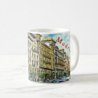 Madrid. Architecture of Gran Vía. Coffee Mug