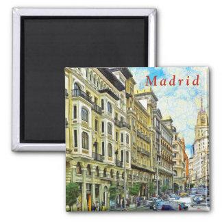 Madrid. Architecture of Gran Vía. Magnet