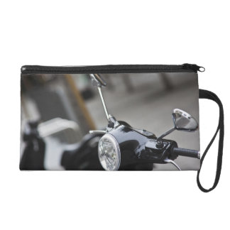 Madrid, black Vespa scooter Wristlet Purses