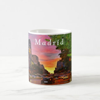 Madrid. Colorful sunset over the Gran Vía. Coffee Mug