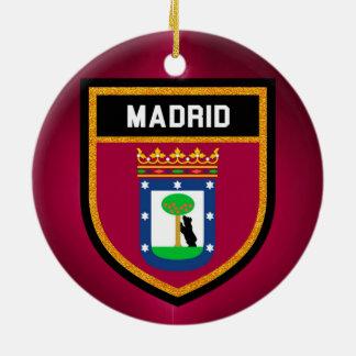 Madrid Flag Ceramic Ornament
