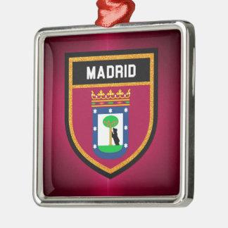 Madrid Flag Metal Ornament